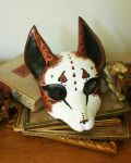 Fancy Brown and White Fox Mask by nondecaf