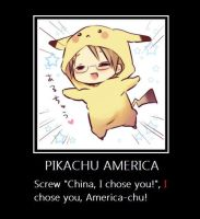 Pikachu America by glaceon007