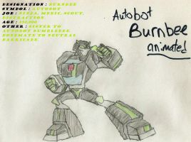 Animated Autobot Burnbee (after updates) by girsgirly