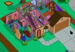 Simpson's House Cutaway First Floor by ajdelong