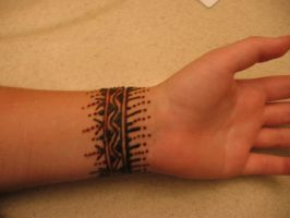 Henna on my wrist, back by Nomandy
