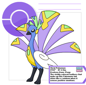Peacock pokemon by Cerulebell