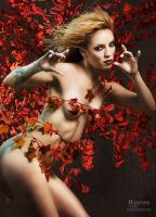 Dana in Red Leaves by rue99