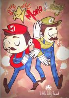 Mario and Luigi by little-lilly-beast