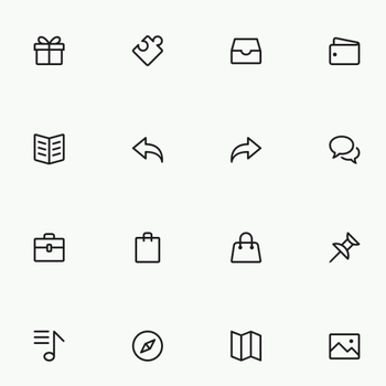 FREE Simple Line Icons Set Vol.3 by graphicloots