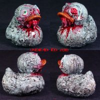 Rot Duck zombie missing eye by Undead-Art