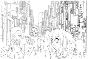 In the City [lines] by TacToki