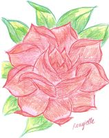 Attempt at Drawing a Rose by Roxyielle