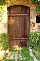 Arch Top Garden Door by ou8nrtist2