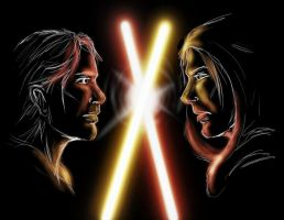 Jedi vs. Sith by Kaelir-of-lorien