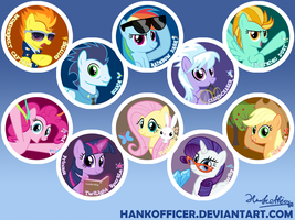 Button designs overview... by HankOfficer