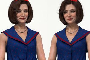 Vintage Dress portrait renders by Intervain
