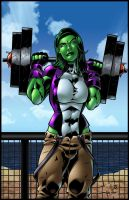 She Hulk - Muscle Beach by BDStevens