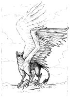 Ink practice - Gryphon by ModNight