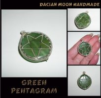 Green Pentagram by NessaSilverwolf