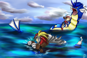 Wild Entei Appeared by OceanLeviathan