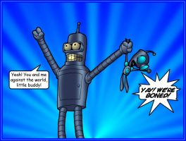 Bender and Gir 2 by What-the-Gaff
