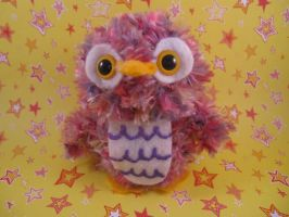 Amigurumi Cotton Candy Owl by AmiTownCreatures