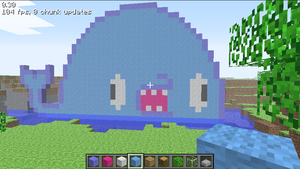 Giant Minecraft WHALE by SpaceWaffleDelivery