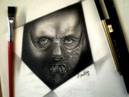 'Hannibal Lecter' by dinurug