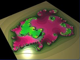 pinkgreen fractal earth by Andrea1981G