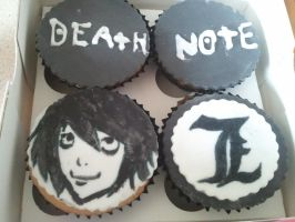 Deathnote Cake Toppers by sugarpaint