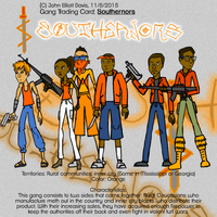 Gang Trading Card: Southernors by LittleGreenGamer