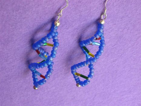 DNA Coming Out of My Ear-rings by zarula