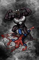 Venom Spider-Man Defeated! by ChrisMcJunkin
