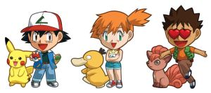Pokemon Ash, Misty, Brock Sets by cosplayscramble