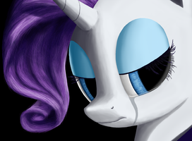 Heartbroken Rarity WIP by StreamlinedPegasus