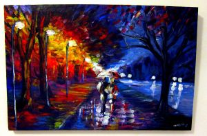 A walk in the rain by TamiTw