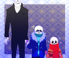Undertale AU: Phobiatale: Skelefam by Moona-chann
