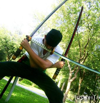Cosplay Zoro one piece by Lusorita