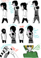 Jeff The Killer and Laughing Jack-Comic #4. by MikaelBratLoni