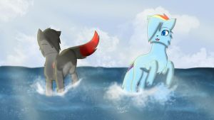 Running in the waves|Anna and Mira by TigerAlima