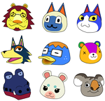 Animal Crossing Faces by mute-owl