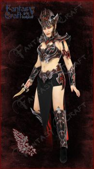 Dark Elf Leather Outfit by Fantasy-Craft