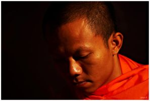 Buddhist Monk by arwulf