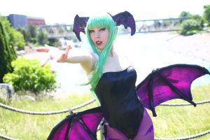 ColossalCon 2014 - Morrigan Aensland(PS) 01 by VideoGameStupid