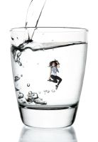 Shrunken Selena Gomez in a Glass of Water! by randomstuff126
