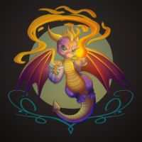 Spyro the dragon by kiska242