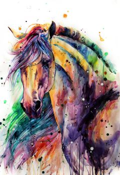 rainbow horsey by ElenaShved