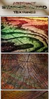 Abstract Stained Wood Textures by AzureRayArt
