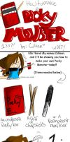 :How to Make a Pocky Monster: by evilkuroneko