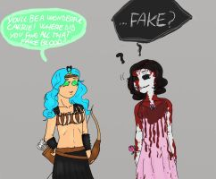 Happy Halloween 2014 Urtica and Angerona by IllyDragonfly