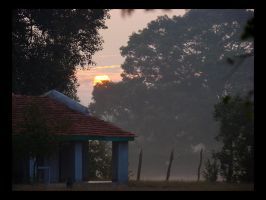 Indian Sunrise by HeWhoWalksWithTigers