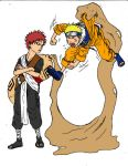 Gaara and Naruto fighting by cloud-ff7