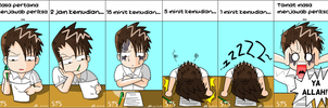 Student's reaction during exam by Saki7Strife