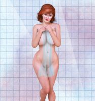Christina Hendricks Shower by Poserreality3